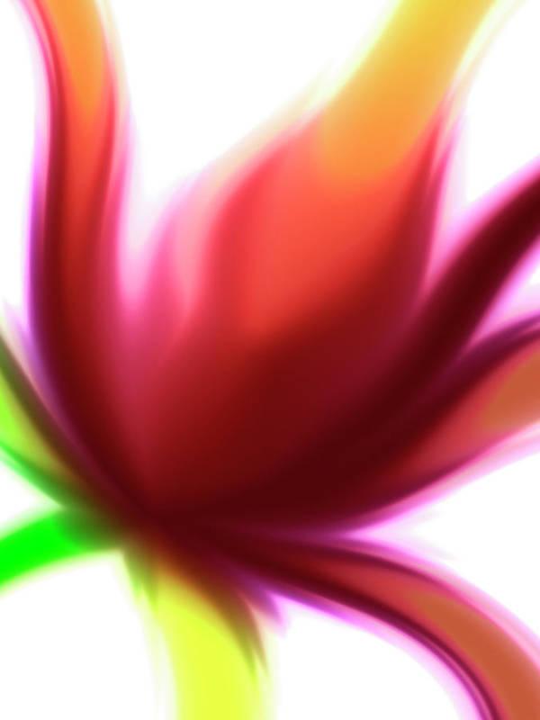 Abstract Art Print featuring the digital art Fleur De Lumiere 04 by Harry Hunsberger