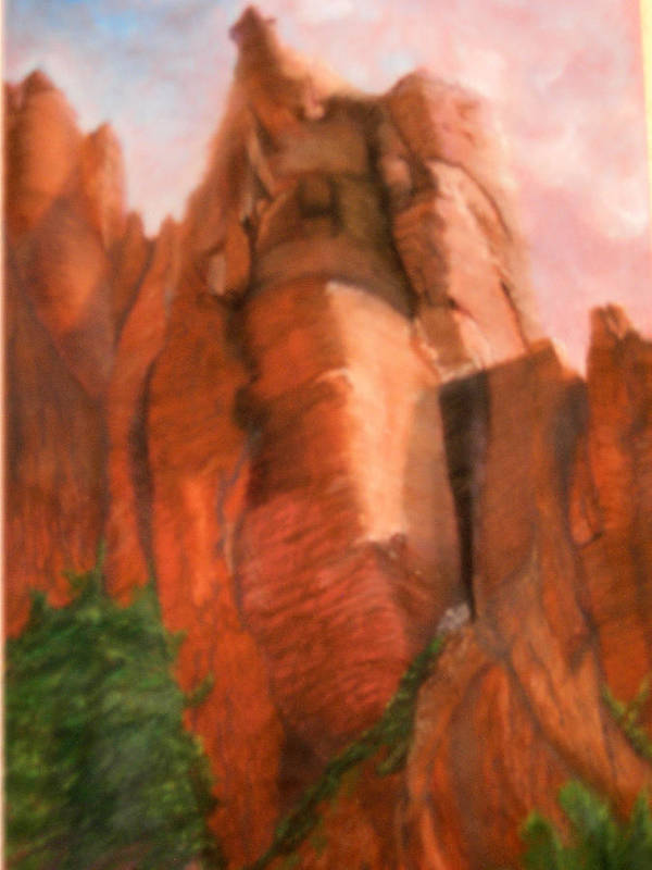 Landscape Art Print featuring the painting Heaven Sent by Jack Hampton