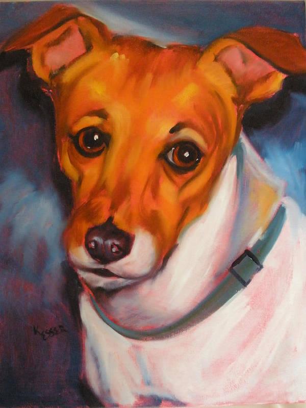 Jack Russel Painting Art Print featuring the painting Jack Russell Terrier by Kaytee Esser