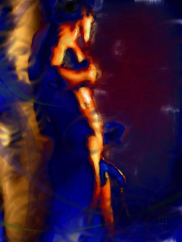 God Art Print featuring the digital art Showered By Mars Virility by Stephen Lucas