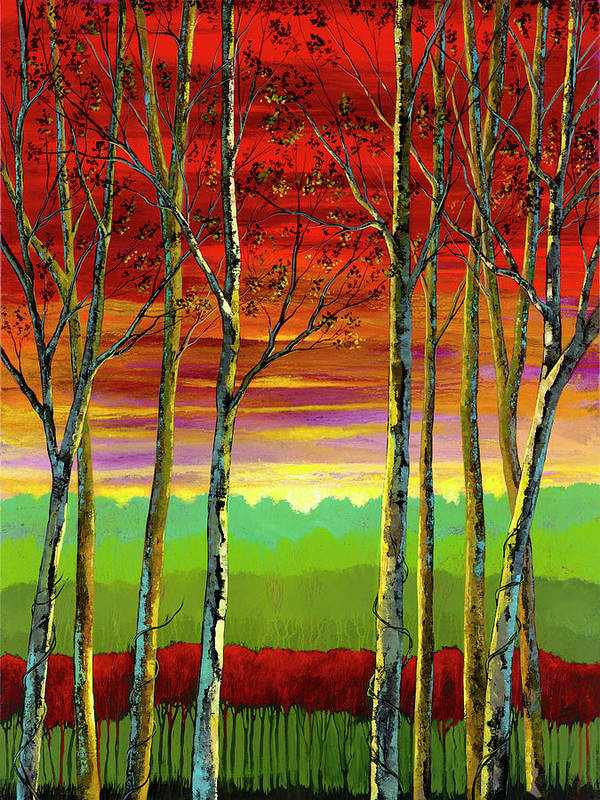 Ford Smith Art Print featuring the painting Blissfully Aware by Ford Smith