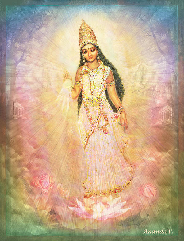 Mother Goddess in Rainbow Colours by Ananda Vdovic