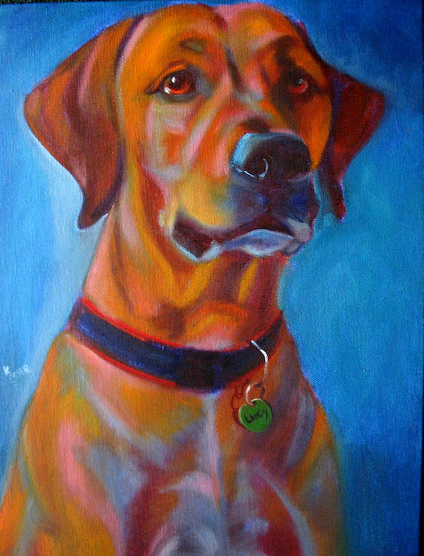 Dog Portraits Art Print featuring the painting Miss Lucy by Kaytee Esser