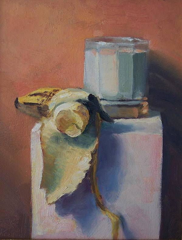 Oil On Masonite Art Print featuring the painting Snack Time by Michael Vires