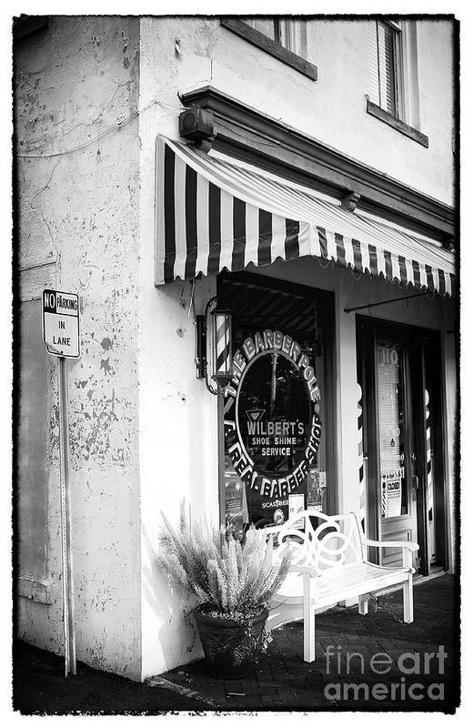 A Real Barber Shop Art Print featuring the photograph A Real Barber Shop by John Rizzuto