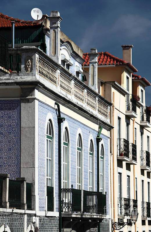 Houses In Alfama Art Print featuring the photograph Houses In Alfama by John Rizzuto
