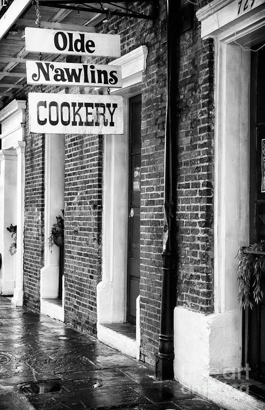 Olde N'awlins Cookery Art Print featuring the photograph Olde N'awlins Cookery by John Rizzuto