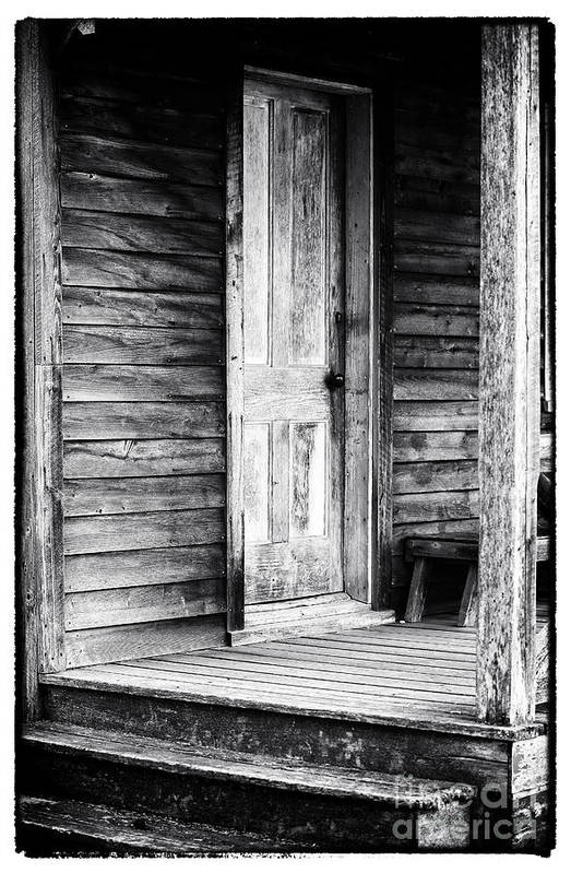 Cabin Door Print featuring the photograph Cabin Door by John Rizzuto