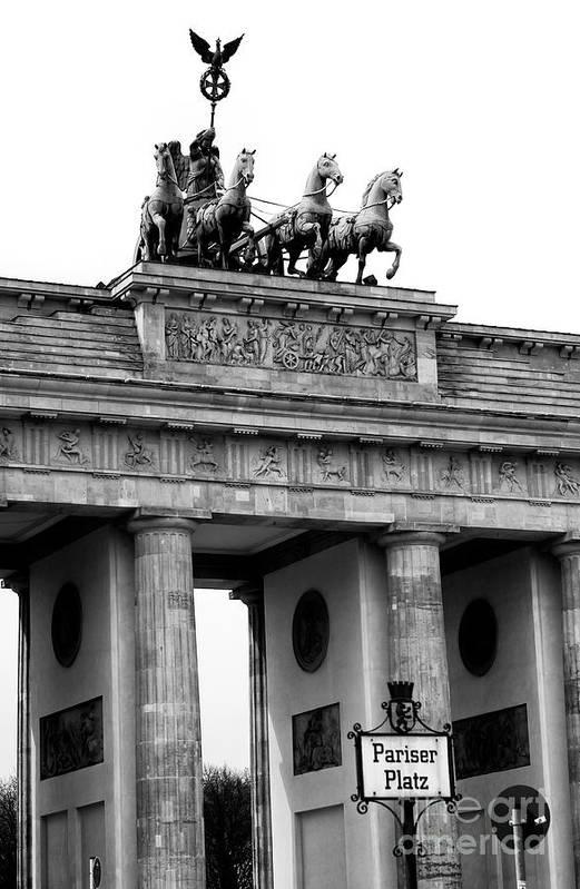 Brandenburg Gate Art Print featuring the photograph Brandenburg Gate by John Rizzuto