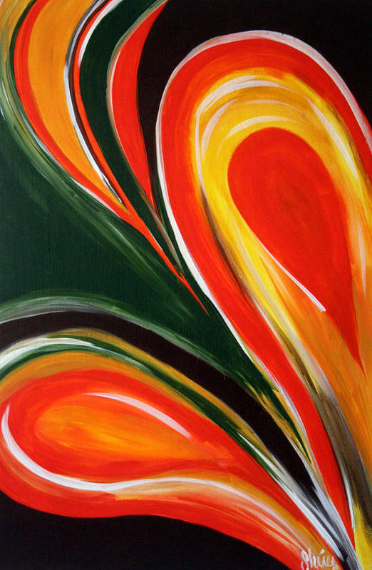 Abstract Paintings Art Print featuring the painting Earthly Desire by Shiree Gilmore