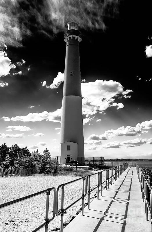 Lighthouse Walk Art Print featuring the photograph Lighthouse Walk Long Beach Island by John Rizzuto