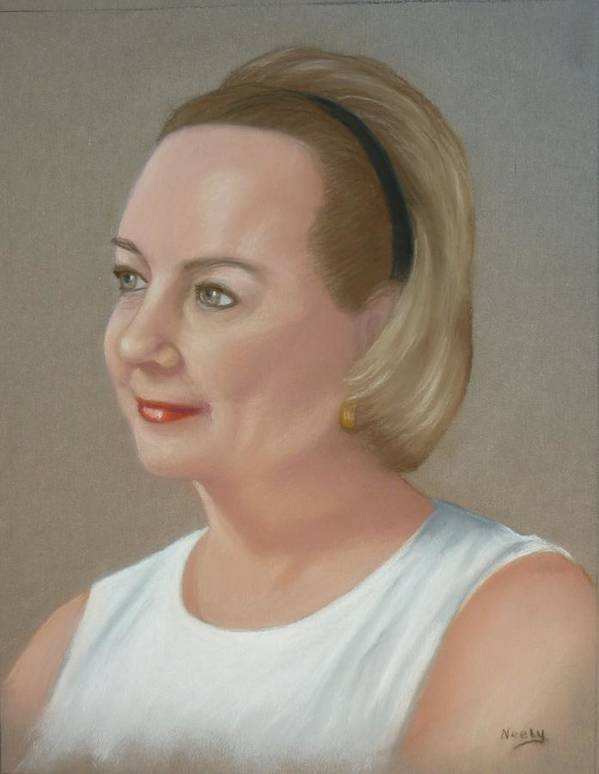 Portrait Art Print featuring the pastel Special Lady by Pat Neely