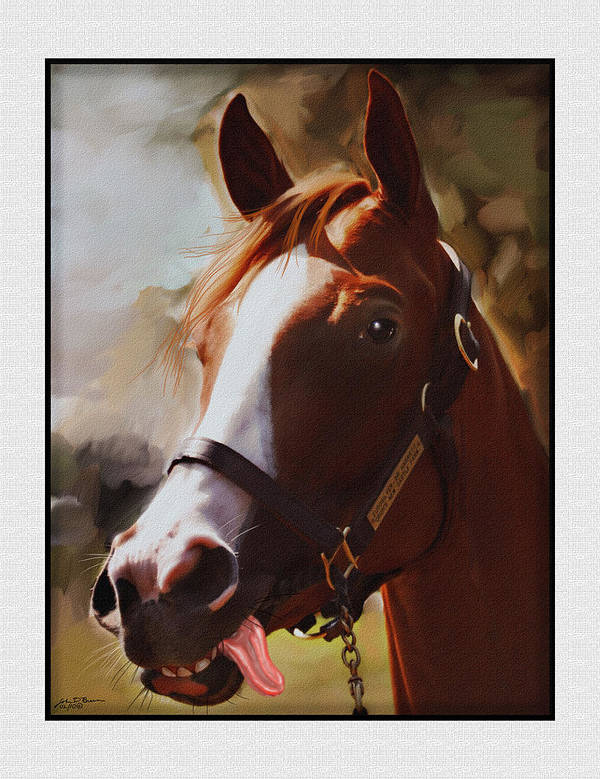 Portrait Of Horse Art Print featuring the painting Eurosilver Sir H by John Breen