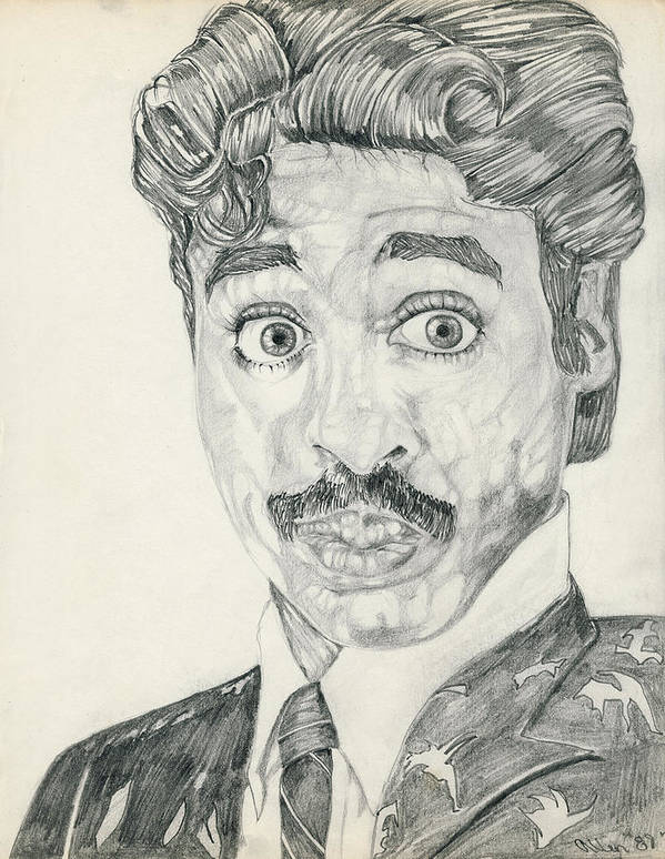 Morris Day Print featuring the drawing Mo'is Day by Allen Walters