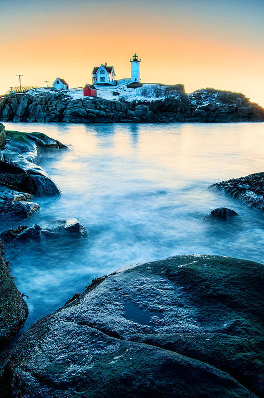 Cape Neddick Art Print featuring the photograph Nubble Light by Thomas Schoeller
