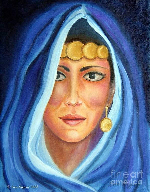 Gypsy Woman Art Print featuring the painting Shroud Of Mysticism by Lora Duguay