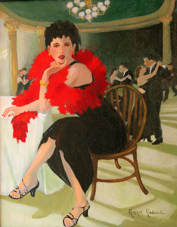 Figure Art Print featuring the painting Sitting This One Out by Roxanne Rodwell