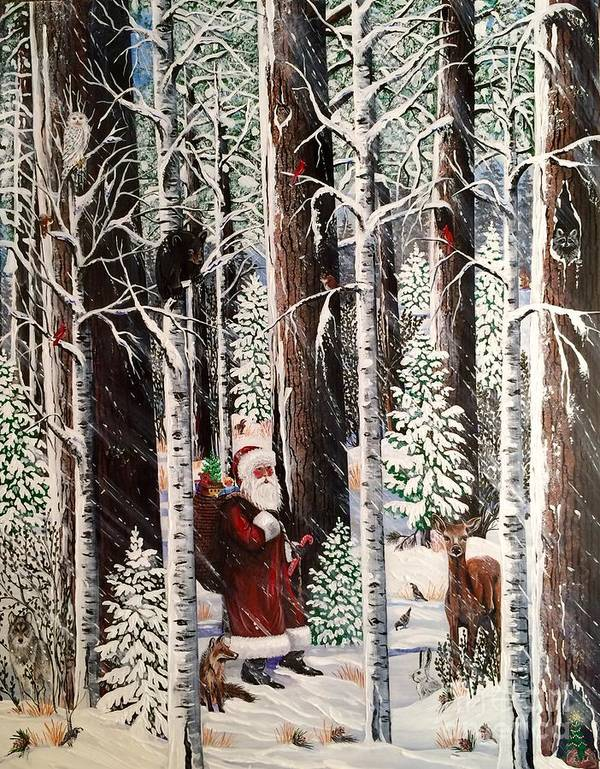 The Christmas Forest Visitor by Jennifer Lake