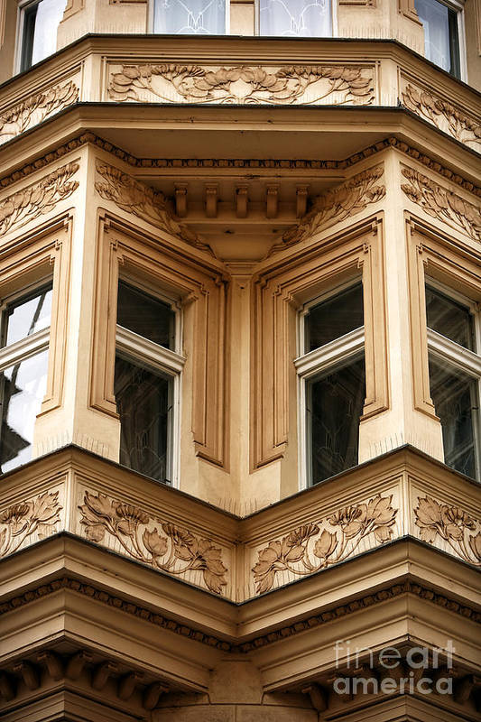 Angled Windows Art Print featuring the photograph Angled Windows by John Rizzuto