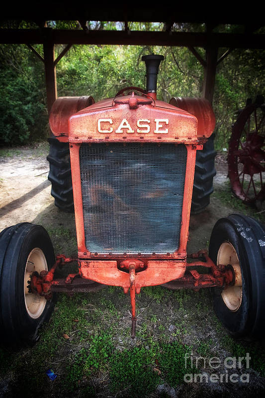 Case Tractor Print featuring the photograph Case Tractor by John Rizzuto