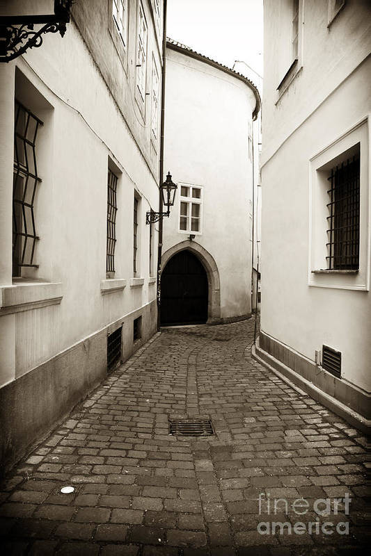 Cobblestone Walk Art Print featuring the photograph Cobblestone Walk by John Rizzuto