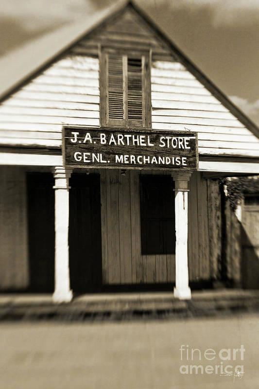 Store Art Print featuring the photograph Genl Merchandise by Scott Pellegrin