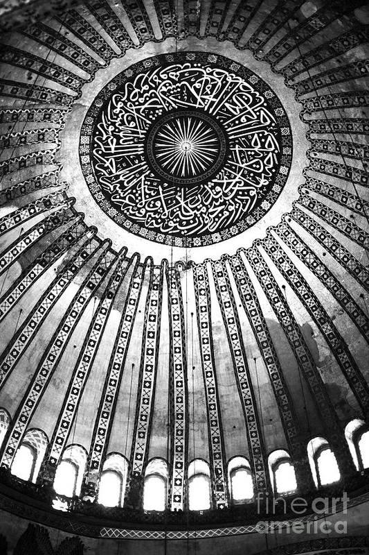 Historic Sophia Ceiling Art Print featuring the photograph Historic Sophia Ceiling by John Rizzuto