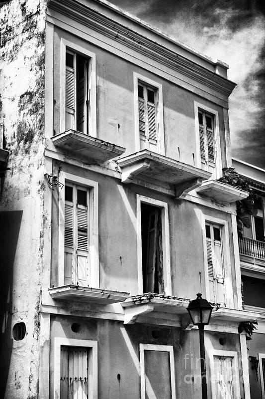 Old San Juan Architecture Art Print featuring the photograph Old San Juan Architecture by John Rizzuto