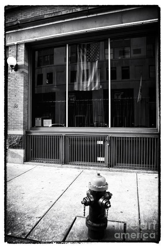 Patriotic Boston Art Print featuring the photograph Patriotic Boston by John Rizzuto