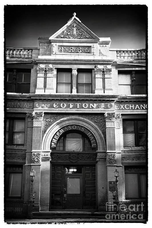 Savannah Cotton Exchange Print featuring the photograph Savannah Cotton Exchange by John Rizzuto
