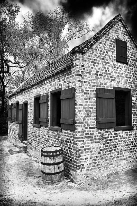 Slave House Art Print featuring the photograph Slave House by John Rizzuto