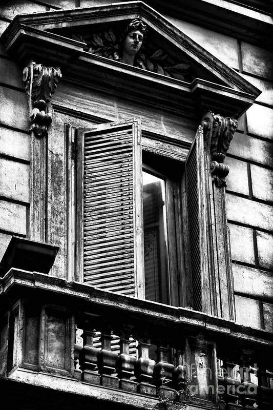 Open Shutter In Rome Art Print featuring the photograph Open Shutter In Rome by John Rizzuto