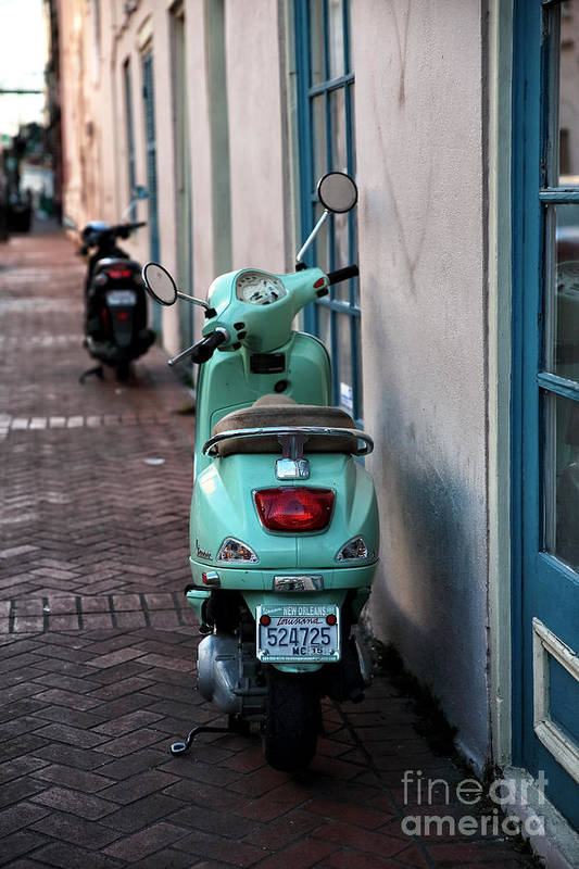 Double Scooters Art Print featuring the photograph Double Scooters by John Rizzuto