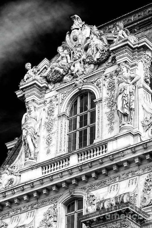 Louvre Palace Window Art Print featuring the photograph Louvre Palace Window Paris by John Rizzuto