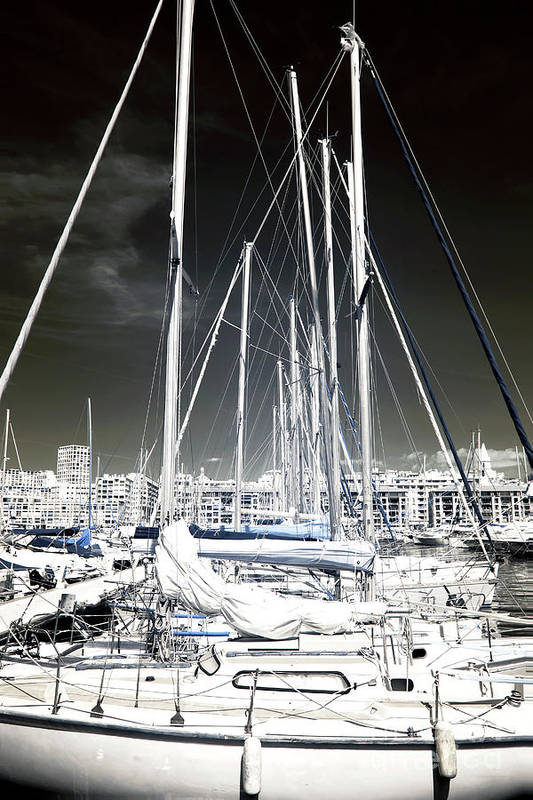 Mast Angles Art Print featuring the photograph Mast Angles by John Rizzuto