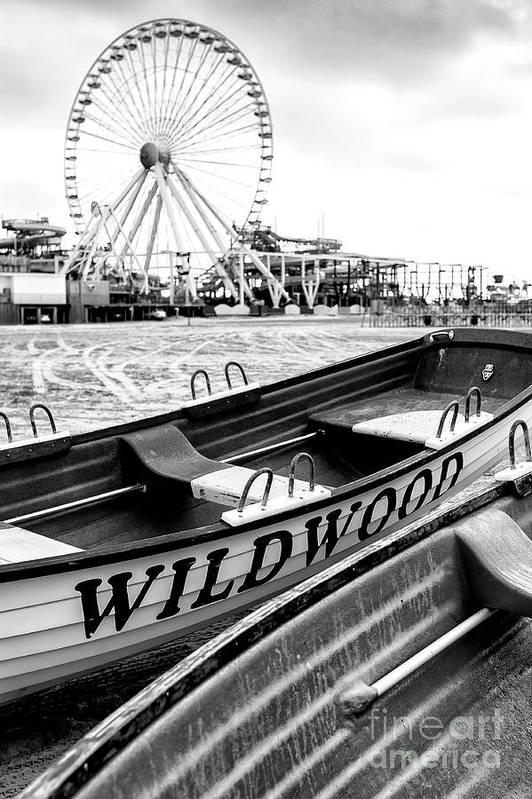 Wildwood Black Art Print featuring the photograph Wildwood Black 2008 by John Rizzuto