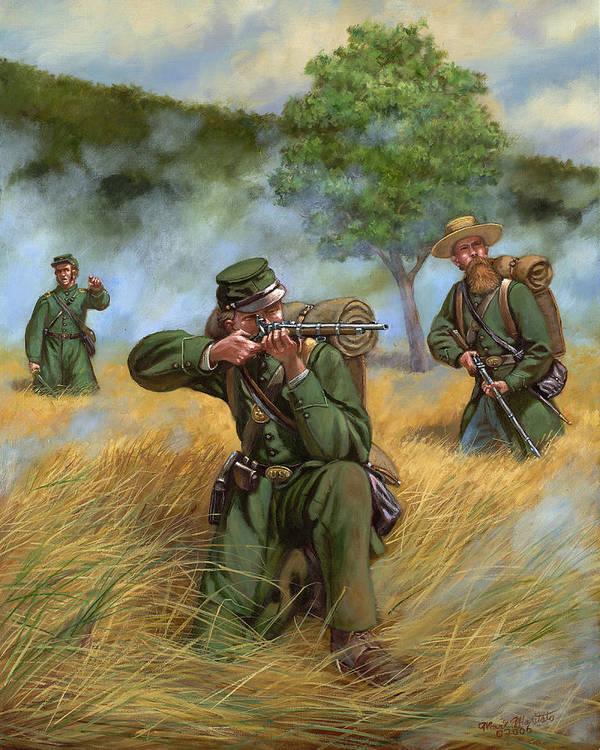 Gettysburg Framed Ltd print Berdan/'s Sharpshooters Civil War