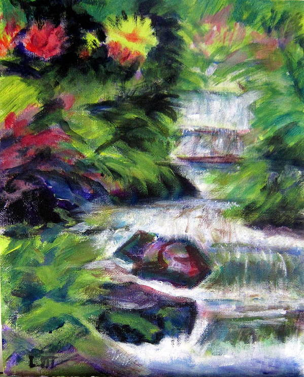 Water Art Print featuring the painting Merry Waters by Lia Marsman