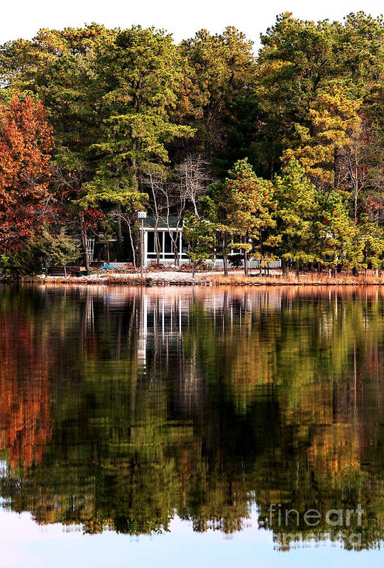 House On The Lake Print featuring the photograph House On The Lake by John Rizzuto