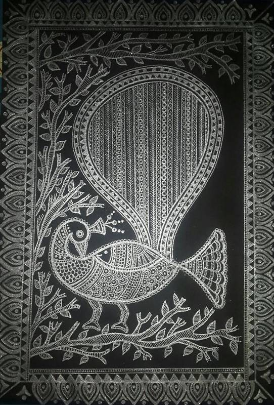 The Madhubani Peacock by Pooja Jain