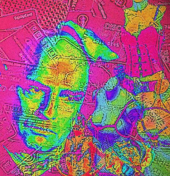 Money Art Print featuring the digital art Big Brother by Jennifer Ott