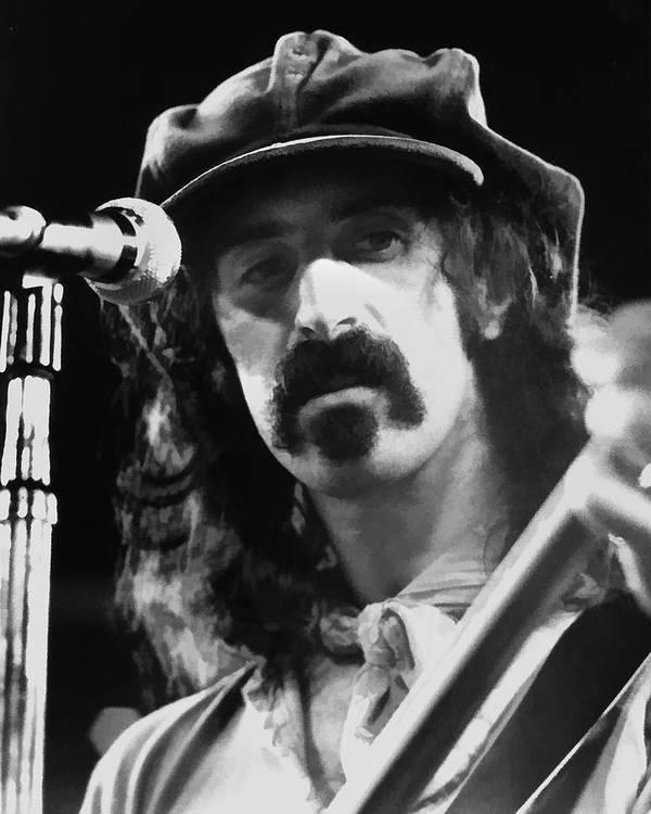 Frank Zappa Art Print featuring the digital art Frank Zappa - Watercolor by Joann Vitali