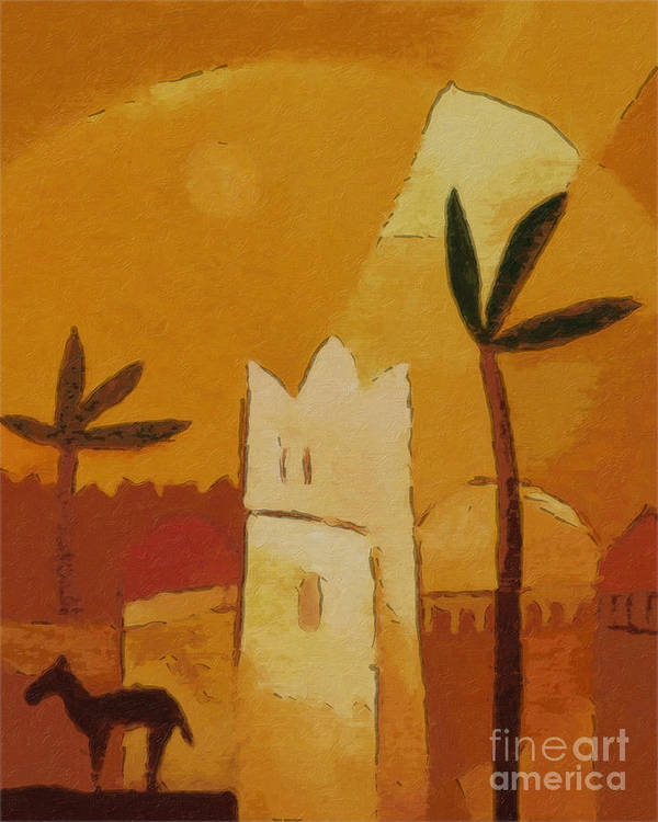 Africa Art Print featuring the painting North Africa by Lutz Baar