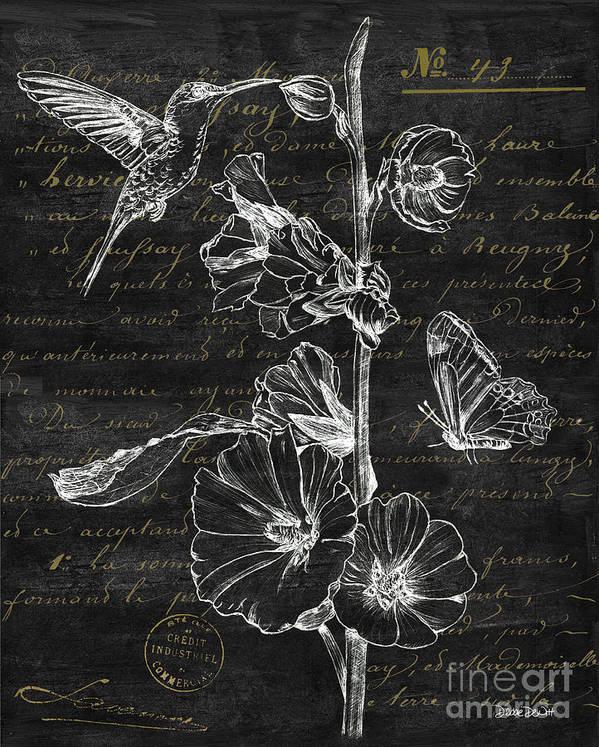 Black and Gold Hummingbirds 2 by Debbie DeWitt