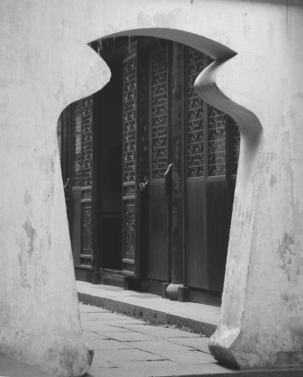 Doorway Art Print featuring the photograph Doorway Black And White by Erika Lesnjak-Wenzel