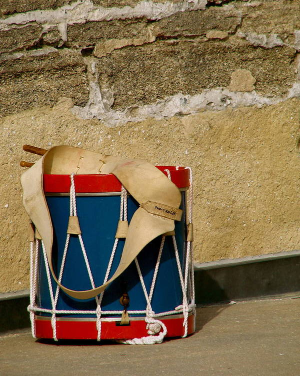 Music Art Print featuring the photograph Drum At The Wall by Kimberly Camacho