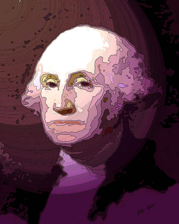 Washington Art Print featuring the drawing George Washington by Tray Mead