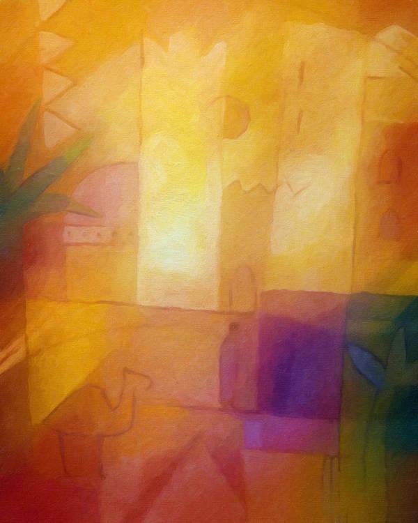 Oriental Art Print featuring the painting Oriental Dream by Lutz Baar
