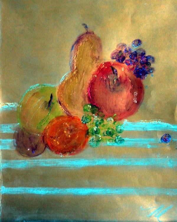 Fruit Art Print featuring the painting Summer Fruit by Michela Akers