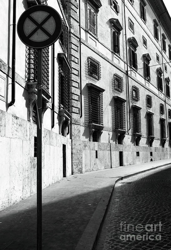 Empty Street Art Print featuring the photograph Empty Street by John Rizzuto